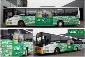 Radio Grün Weiss Busdesign