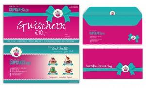 Take the Cake Gutscheine und Kuverts