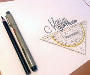 handgezeichneter Entwurf