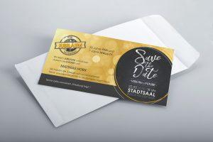 Einladung, save the date, Veranstaltung, Grafik Design, Werbemittel, Karten